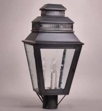 Northeast Lantern 8643 Post Verdi Gris 3 Candelabra ...