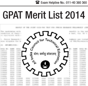 GPAT 2014 Merit List- All India Merit List Declared
