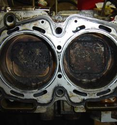 a damaged head gasket of a subaru model  [ 1024 x 768 Pixel ]