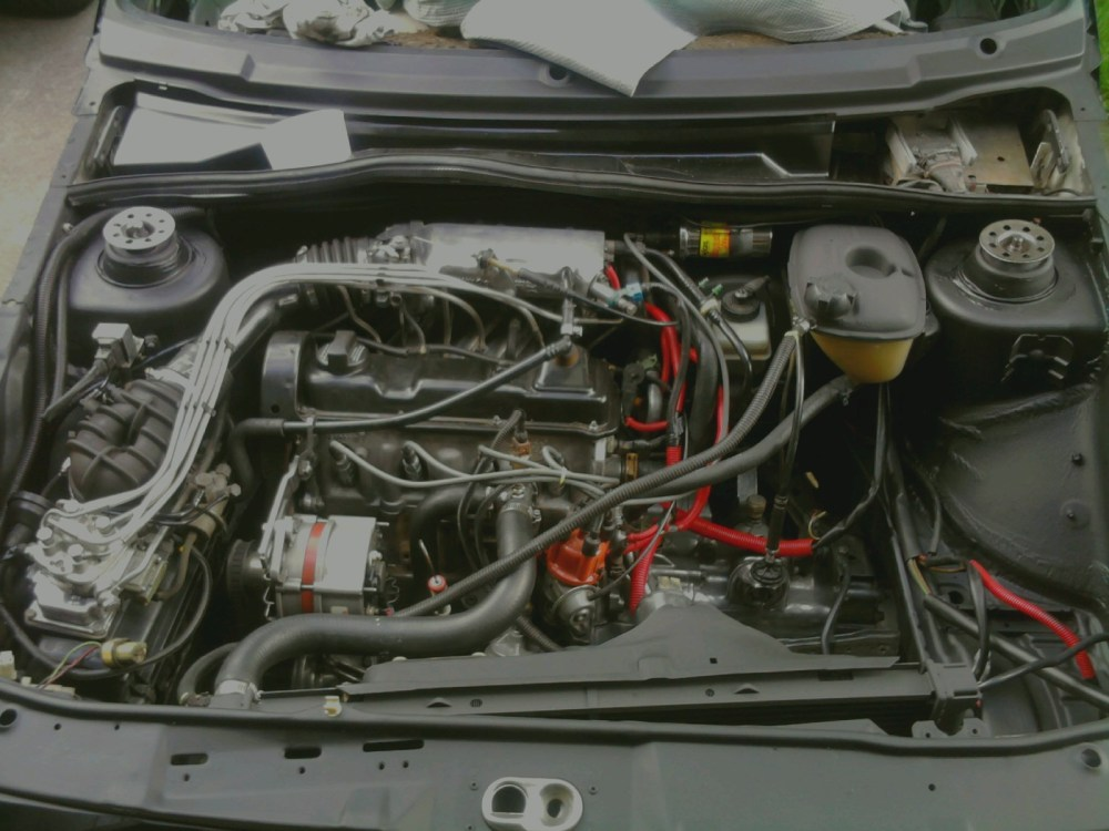 medium resolution of 1985 volkswagen jetta just got done painting the engine bay all black