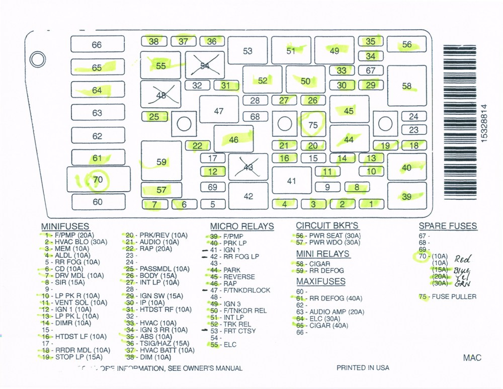 medium resolution of 2000 buick fuse box wiring diagram go fuse box 2000 buick park ave