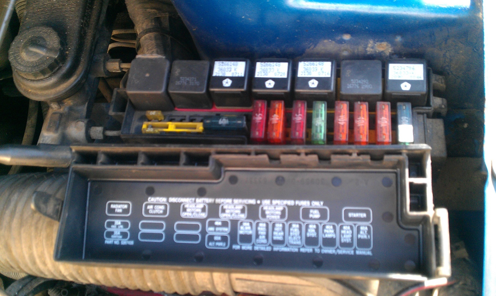 93 Dodge Dakota Wiper Fuse Box Diagram