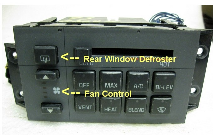 Chevrolet Lumina Questions Wheres The Heater Fan Switch On My 1990