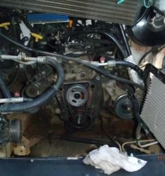 how to repair a 1992 dodge ram 250 van water pump 318 motor [ 1280 x 960 Pixel ]