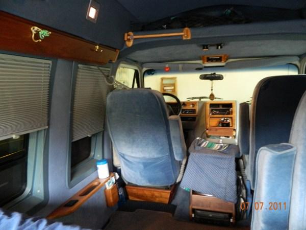 Chevy G20 Cargo Van Interior - Year of Clean Water