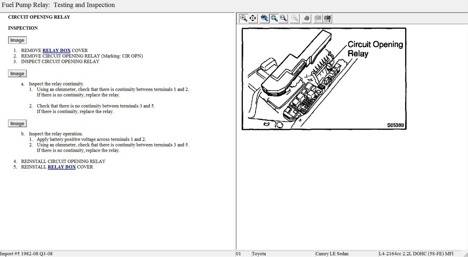 2010 f150 stereo wiring diagram 06 chevy silverado toyota camry questions - where is fuel pump relay 2001 4 cyl cargurus