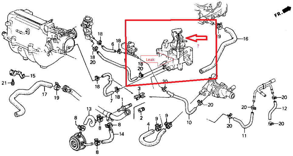 1994 Honda Civic Ex Coupe Engine Diagram Thermostat