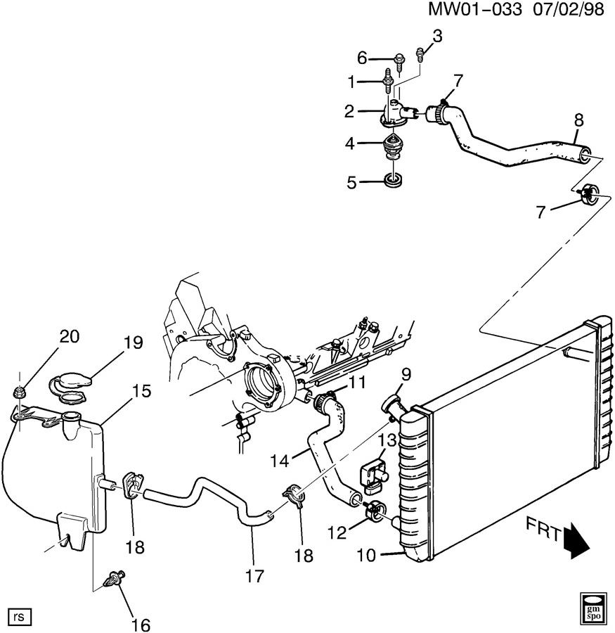 2000 Buick Lesabre Cooling System Diagram, 2000, Free