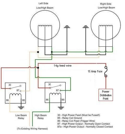 Headlights Wiring Diagram