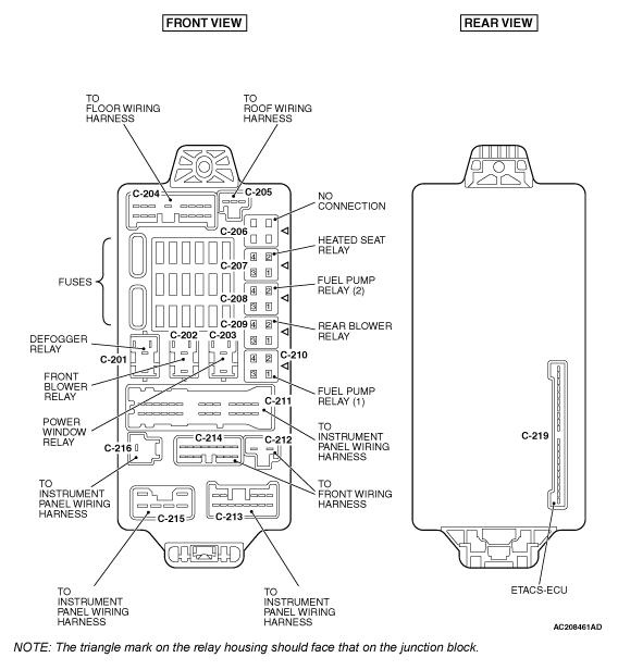 2008 mitsubishi endeavor fuse box diagram