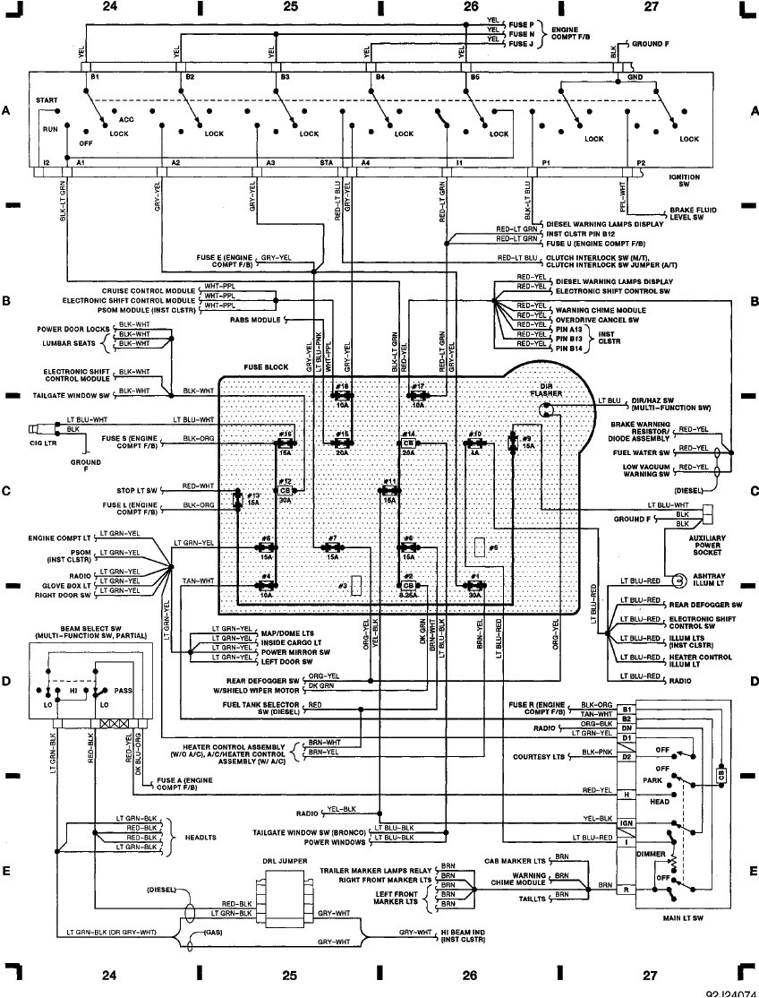 F Fuse Panel Diagram Schematics Wiring Diagrams All Fuses