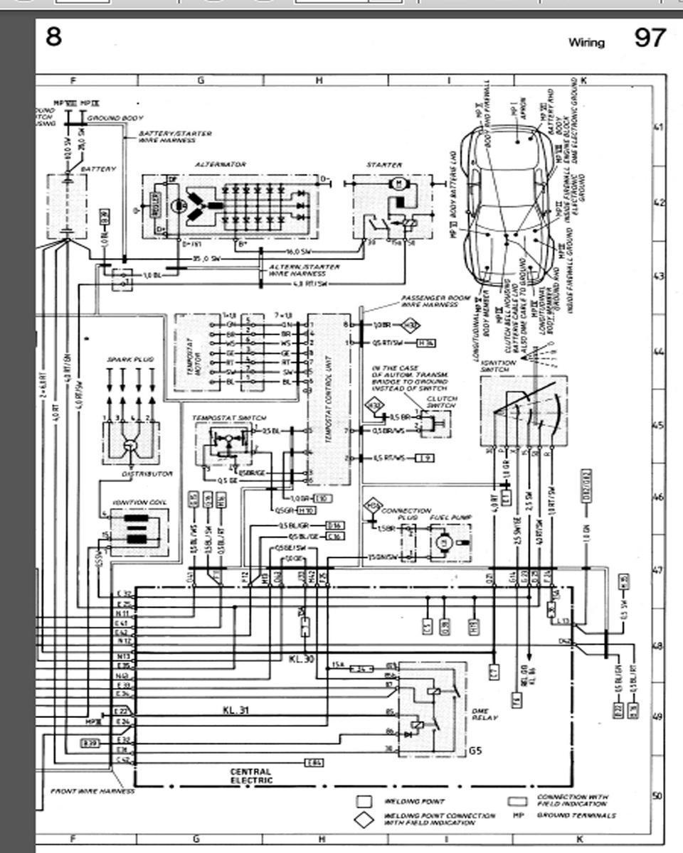 porsche 944 radio wiring diagram allen bradley mcc diagrams questions - i have a1990 s2 and it stoped at the lights other day now ha ...