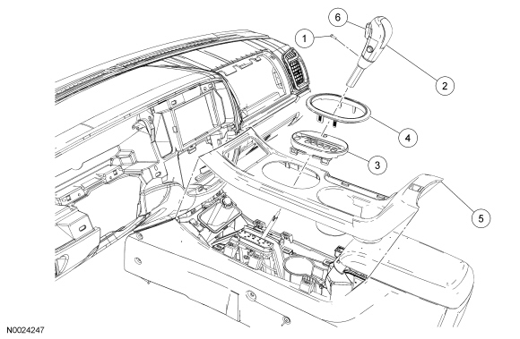 ford focus shifter assembly diagram