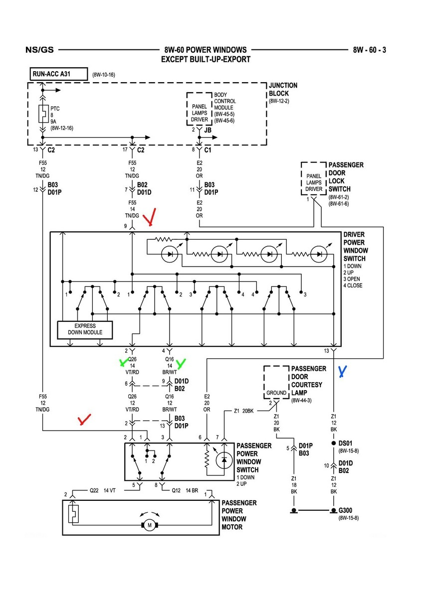 05 dodge caravan radio wiring diagram 7s bms grand questions - i have 2009 carvan and my middle passenger window won't ...