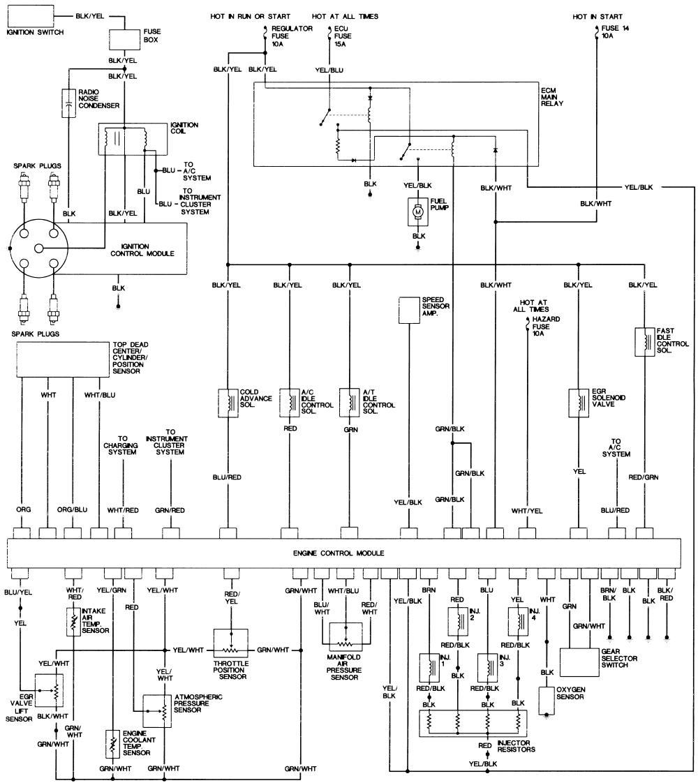 89 honda accord lxi: hatchback..wiring and fuel pump