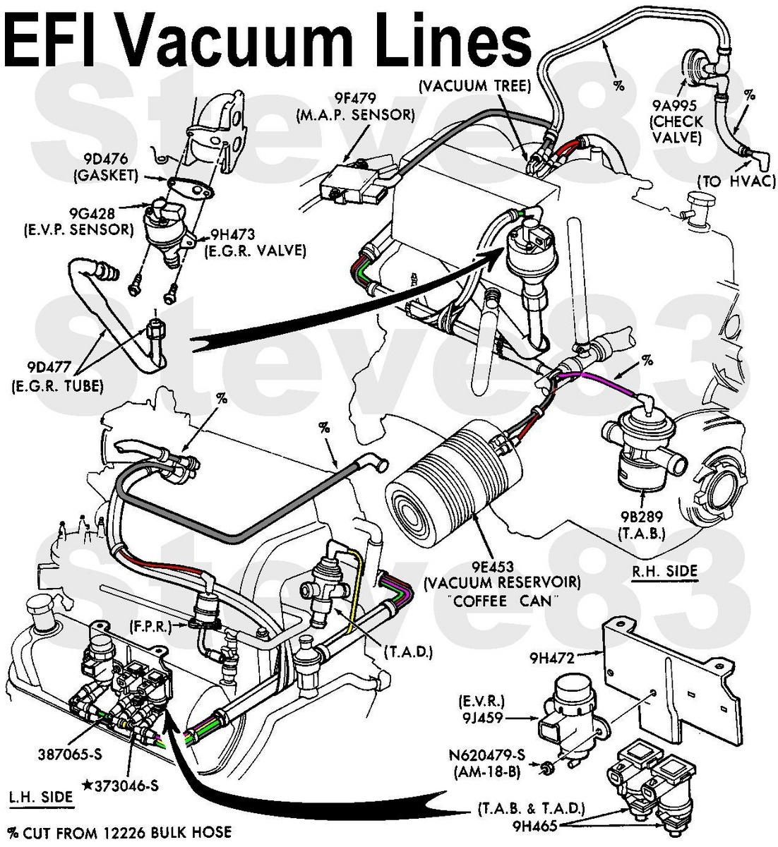 hight resolution of ford f 150 questions is there a diagram for vacuum hoses on 1990 ford escort vacuum hose diagram ford vacuum hose diagram