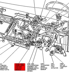 radio wiring diagram wiring diagram for 1995 ford explorer tail lights brake light turn signals not working lincoln town car  [ 1368 x 886 Pixel ]