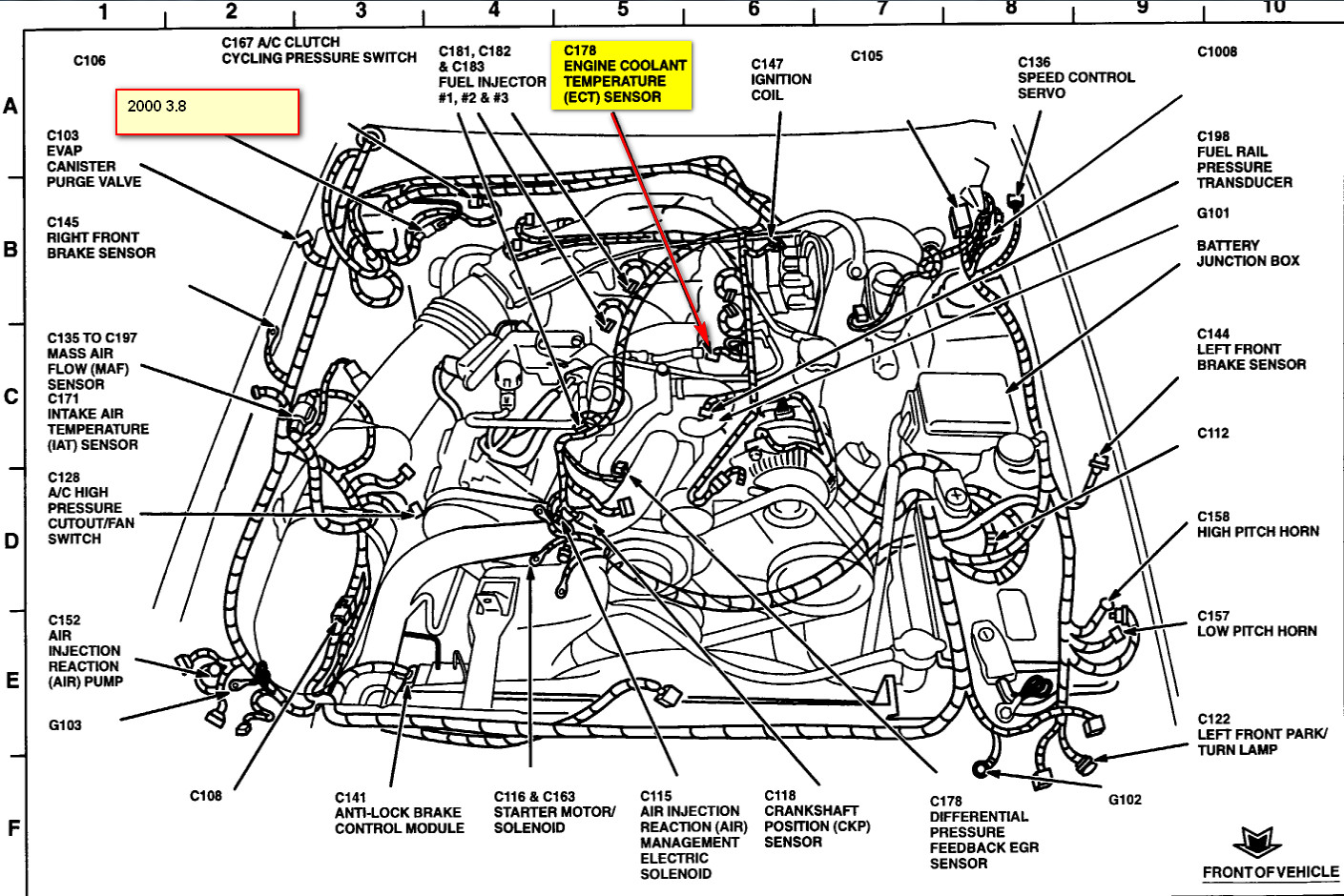 Ford Ranger Temperature Sensor Location