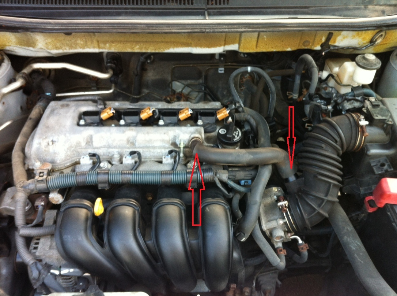 3 4 L Engine Coolant Flow Diagram Toyota Matrix Questions What Is This Tube On My Matrix