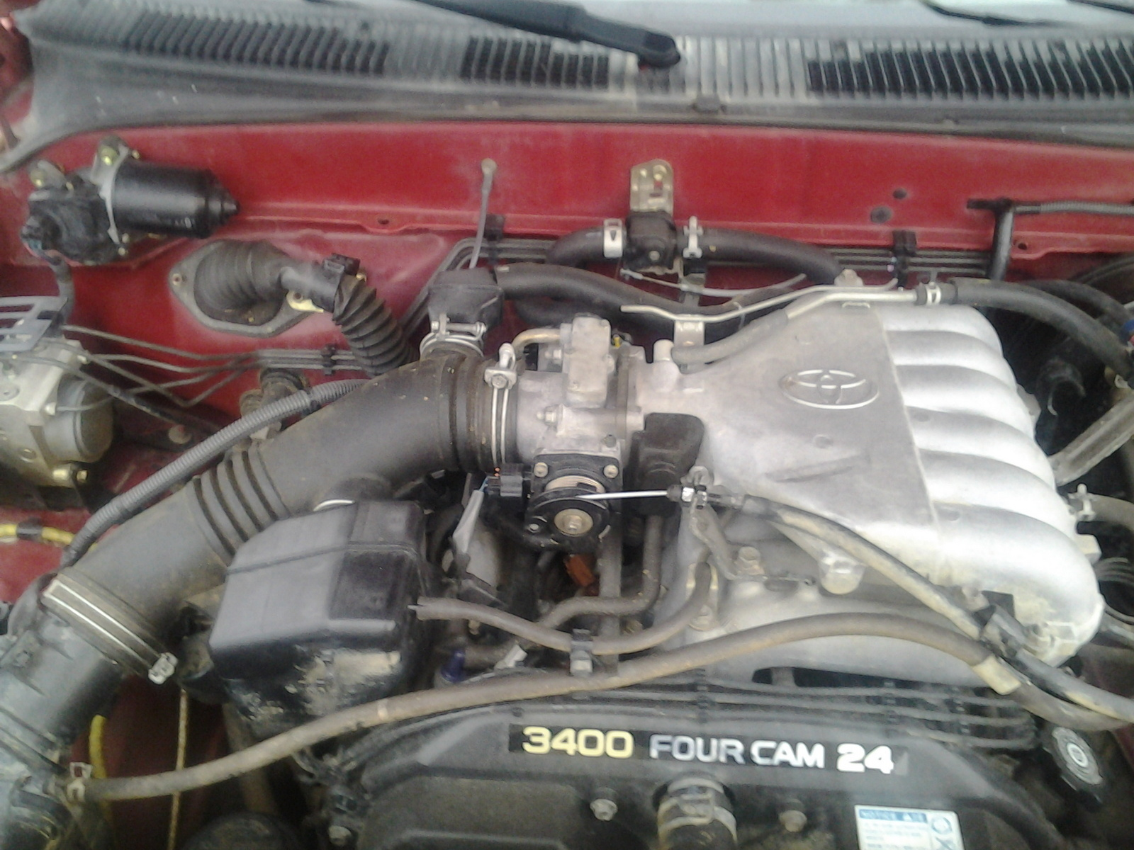 hight resolution of why is my 2003 tacoma idle high and slack in throttle line after i replaced the throttle body