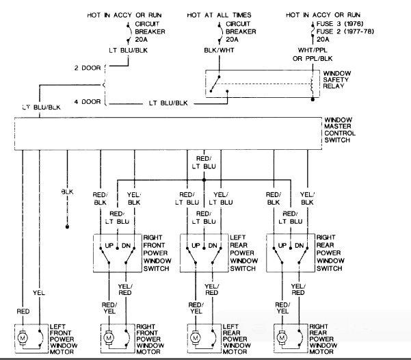 Wiring Diagram For Car Electric Windows