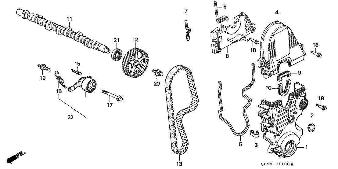 1997 honda passport engine diagram