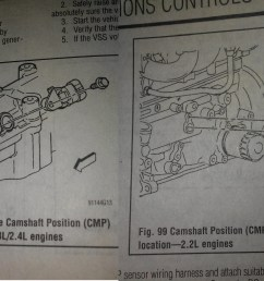 16 answers pontiac sunfire questions where is the crank shaft position sensor  [ 1345 x 963 Pixel ]