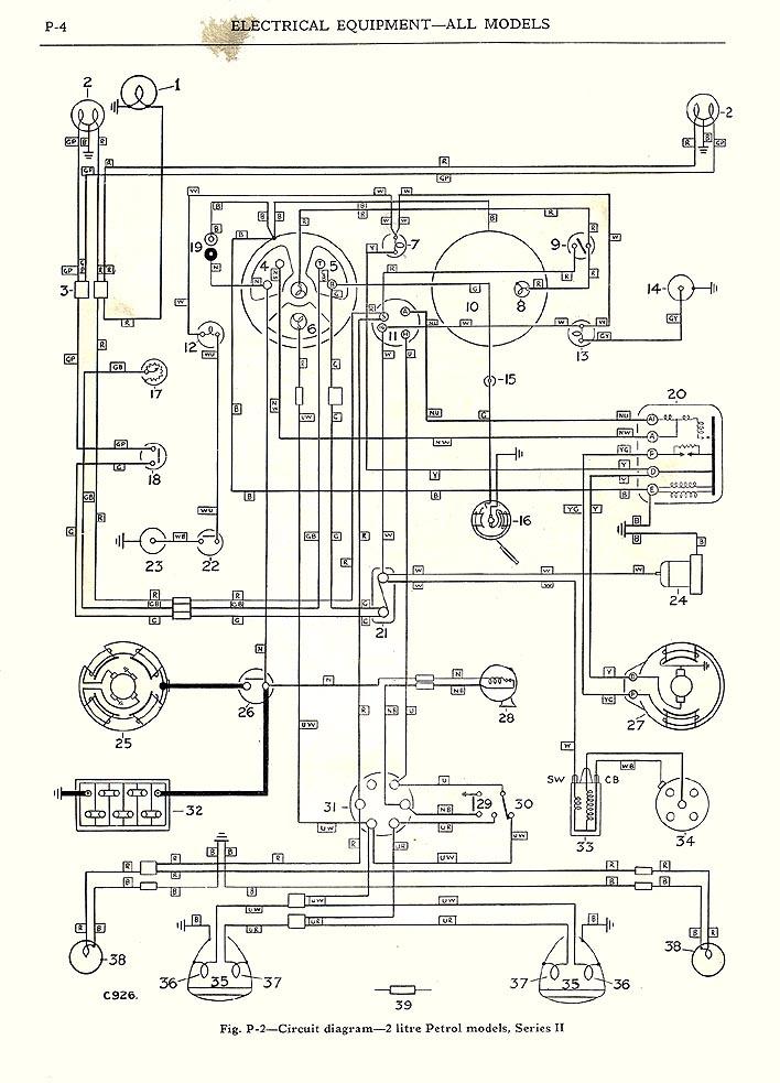 austin healey bj7 wiring diagram