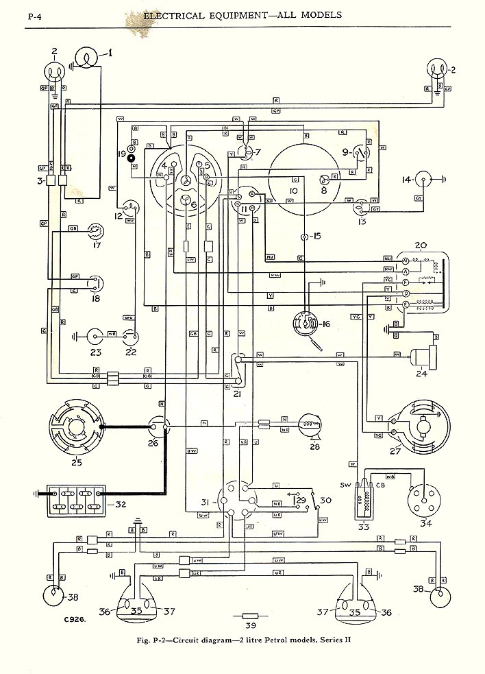 Wiring Diagram 1960 Austin Healey, Wiring, Free Engine