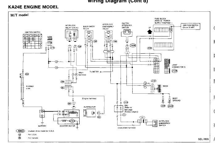 1995 toyota 4runner wiring diagram lucas dr3a wiper motor nissan pickup questions where is the fuse for hazard lights on a 4x4 manual speed pick up located