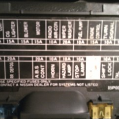 1989 Toyota Pickup Fuse Box Diagram 2005 Suzuki Sv650 Wiring Nissan Questions Where Is The For Hazard