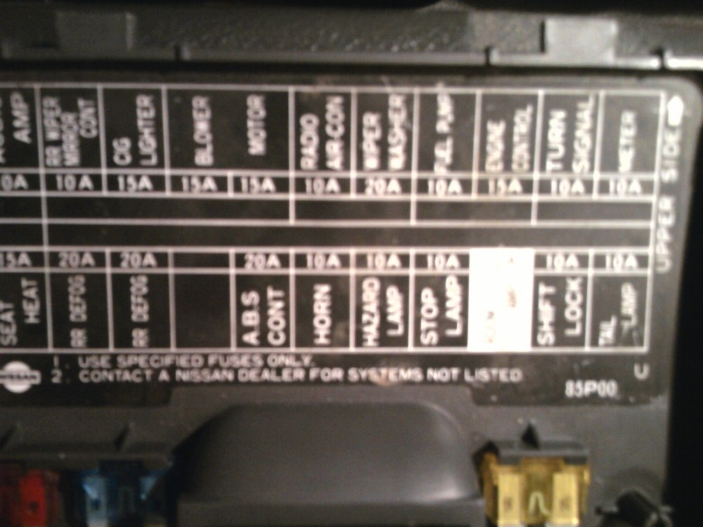 medium resolution of nissan pickup questions where is the fuse for the hazard lights on 1985 chevy truck fuse box diagram 1995 chevy truck fuse box diagram