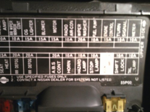 small resolution of where is the fuse for the hazard lights on a 1995 nissan 4x4 manual speed pick up located