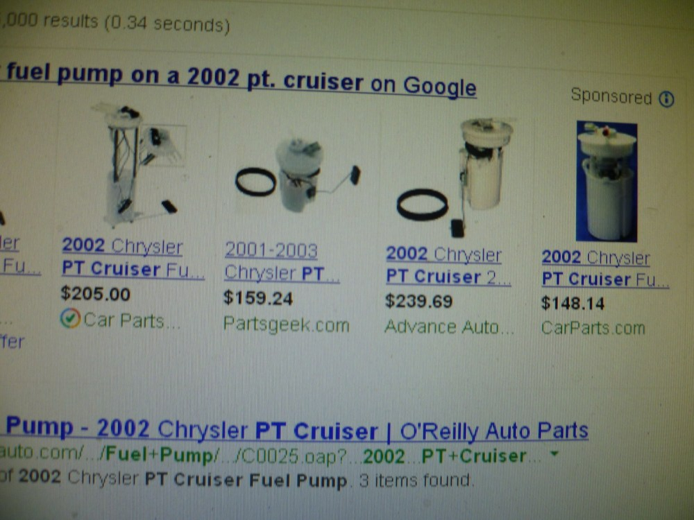 medium resolution of chrysler pt cruiser questions how much to replace fuel pump on a