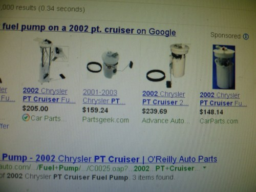 small resolution of chrysler pt cruiser questions how much to replace fuel pump on a