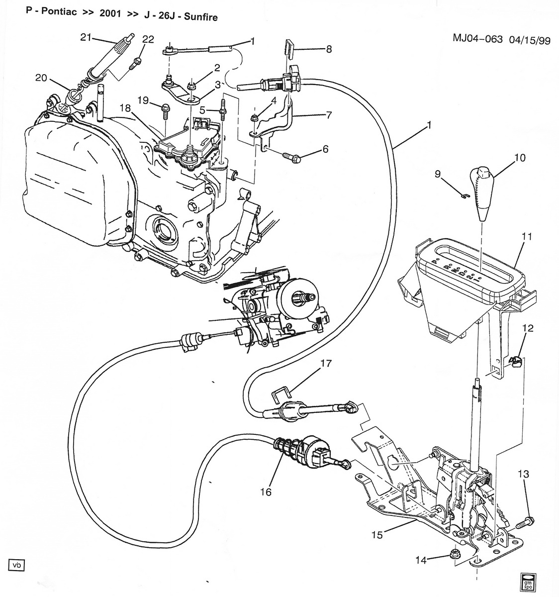 2002 Chevrolet Trailblazer Transmission Diagram, 2002