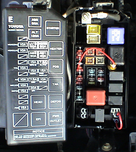 1999 Toyota Corolla Ce Fuse Box Diagram Auto Fuse Box