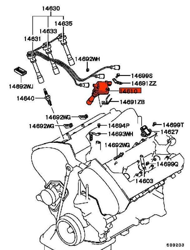 1995 Mitsubishi Galant Spark Plug Wiring Diagram : 48