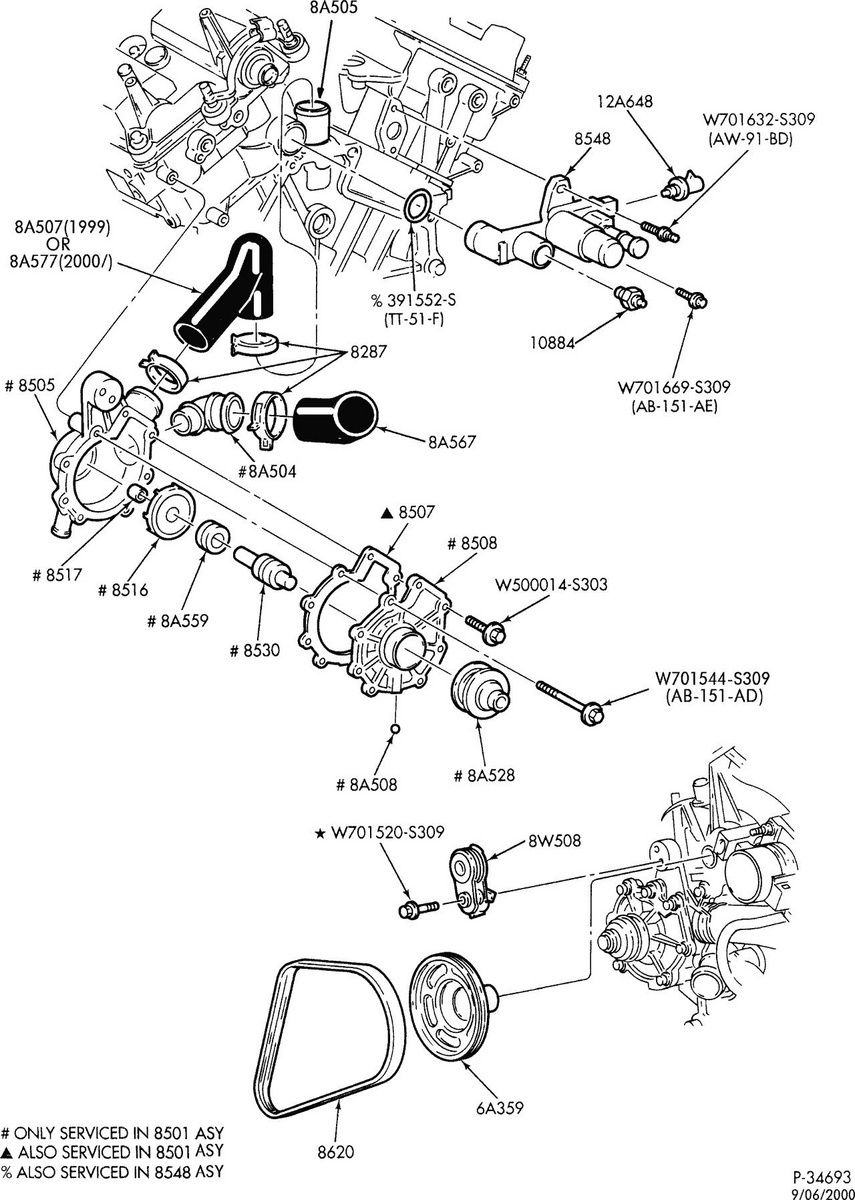 2002 Mercury Cougar Automatic Transmission Diagram