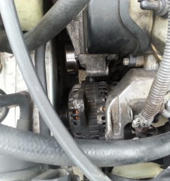 i have uninstalled the alternator to my 2002 mitsubishi galant es v6 but the mounting prevents me from pulling the alternator out  [ 1600 x 1200 Pixel ]