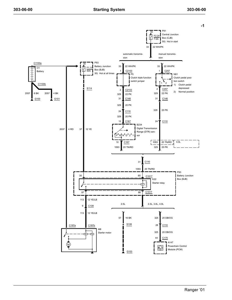 medium resolution of ford ranger starter wiring wiring diagram details 1994 ford ranger starter wiring diagram 1995 ford ranger