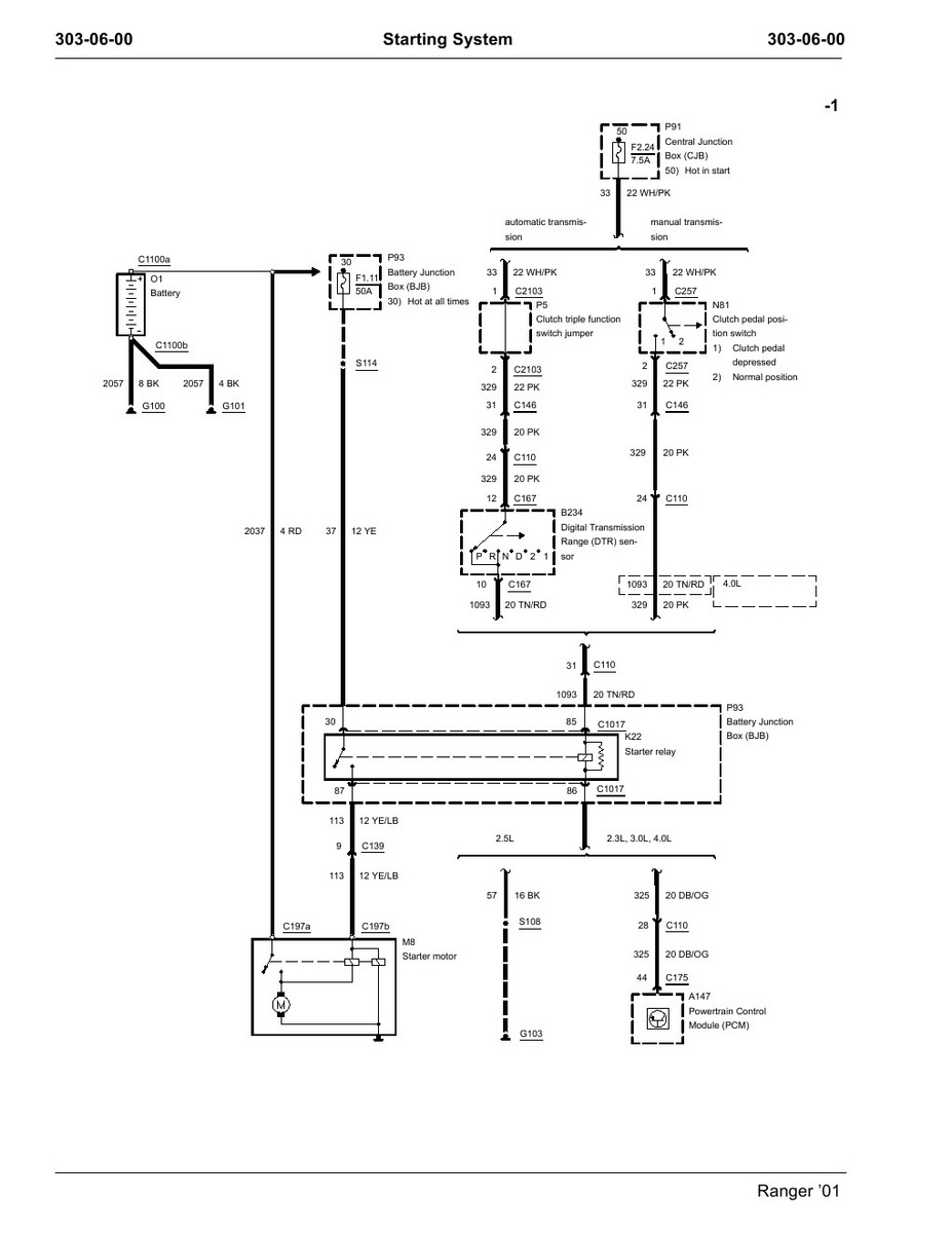 ford ranger alternator wiring diagram 3 phase pressure switch 96 starter solenoid data 1988 best library