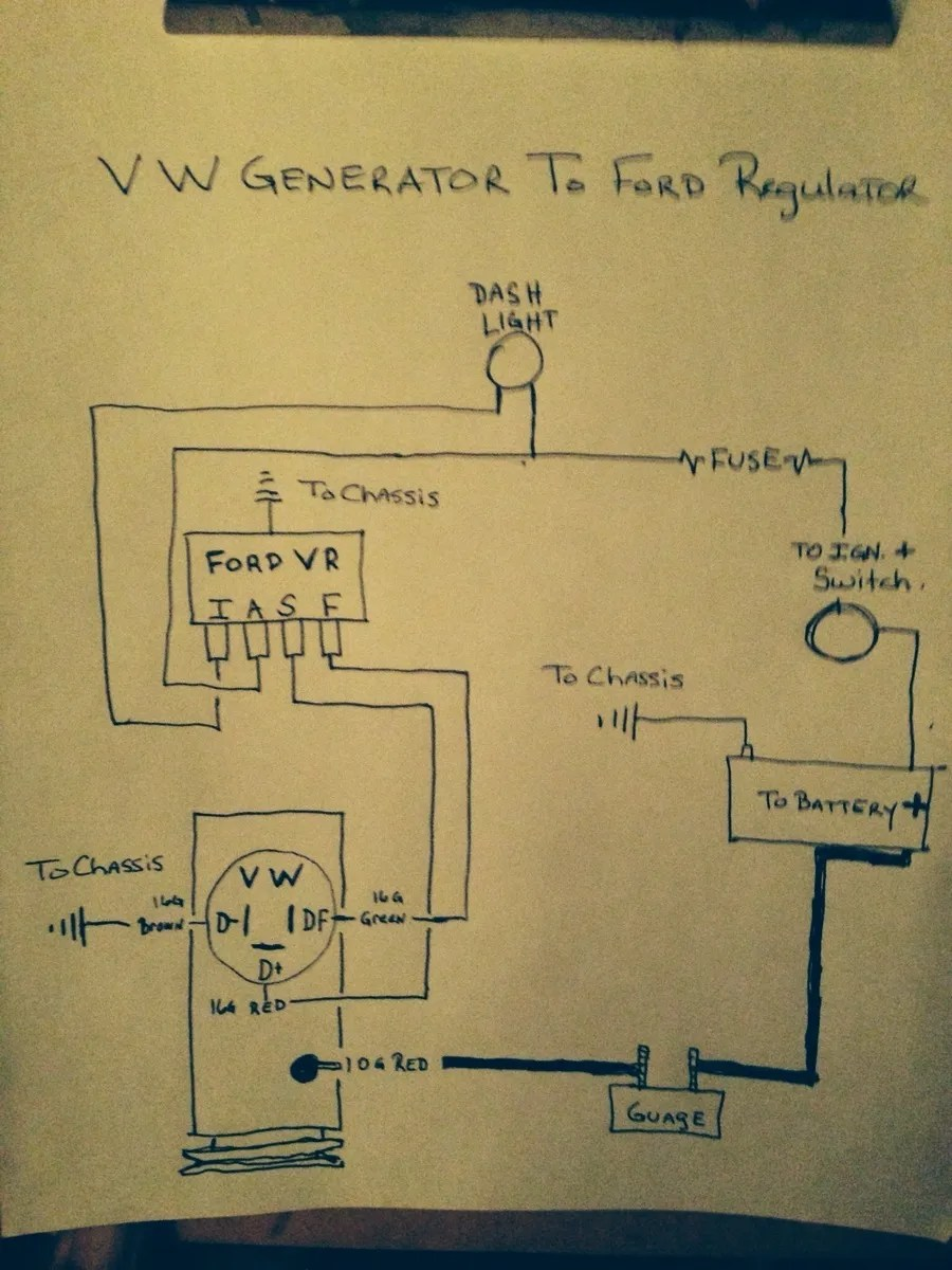 hight resolution of  external voltage regulator wiring volkswagen beetle questions try this again i have a 1974 beetle with a alternator