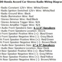 Honda Prelude Radio Wiring Diagram Overhead Of Car Accord Questions What Is The Wire Color Code For A 2000 2 People Found This Helpful
