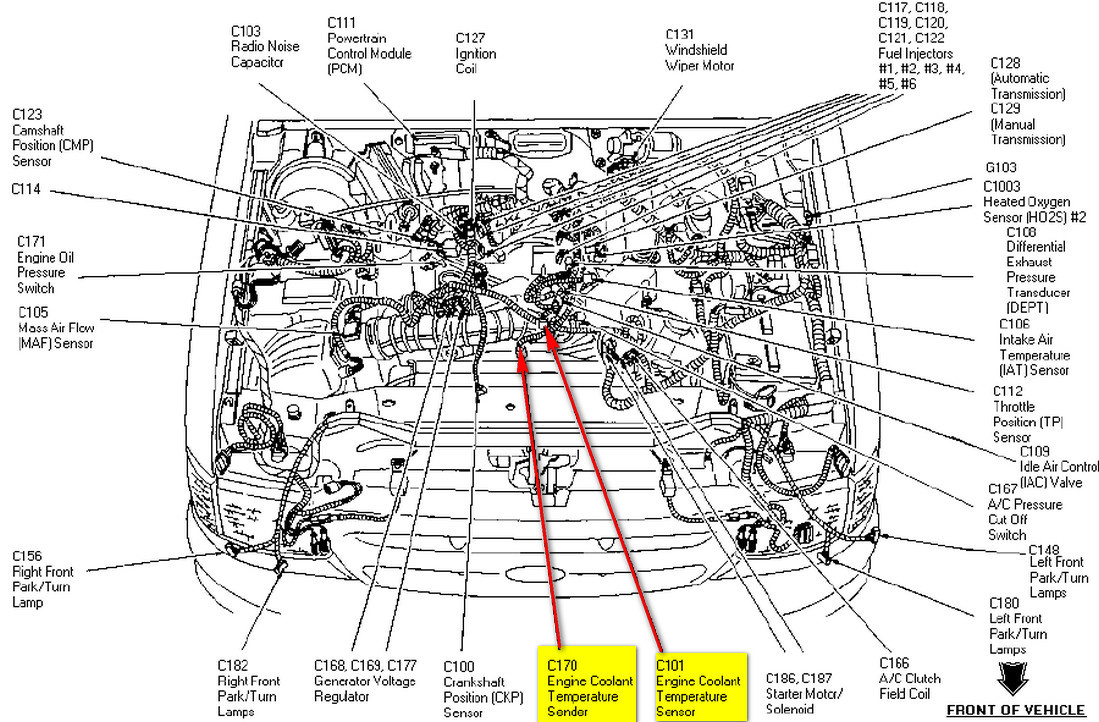 1997 Ford Ranger Heating System Diagram, 1997, Free Engine