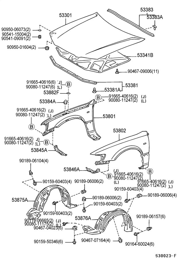 2001 Camry Parts Diagram