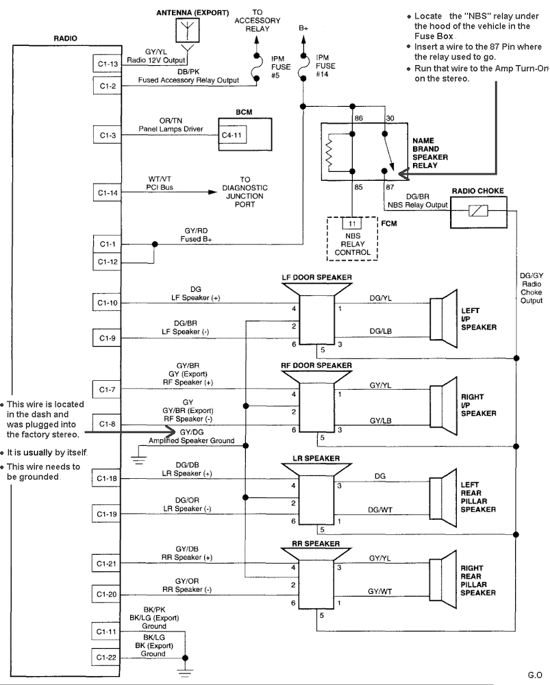 hight resolution of 2003 dodge infinity amplifier wiring diagram 44 wiring 2003 dodge caravan starter wiring schematic 03 dodge