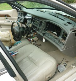 where is the blend door actuator on a 2000 mercury grand marquis  [ 1600 x 1200 Pixel ]