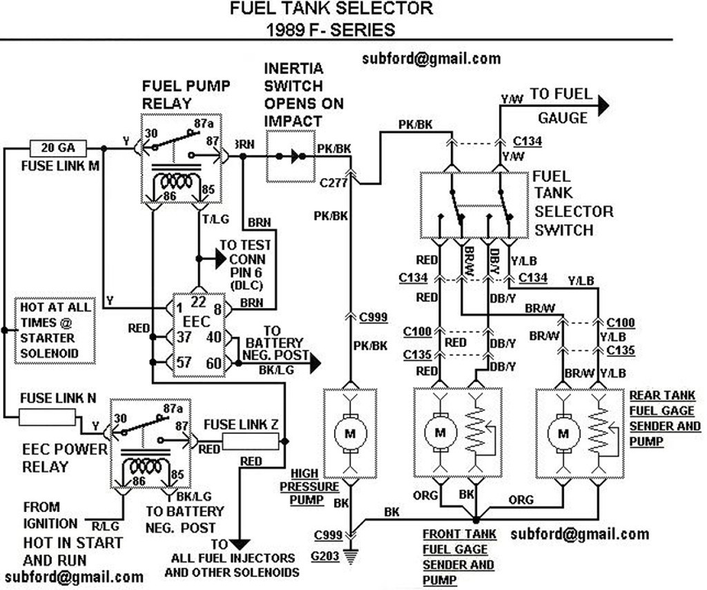 86 Ford E350 Fuel Pump Wiring Diagram