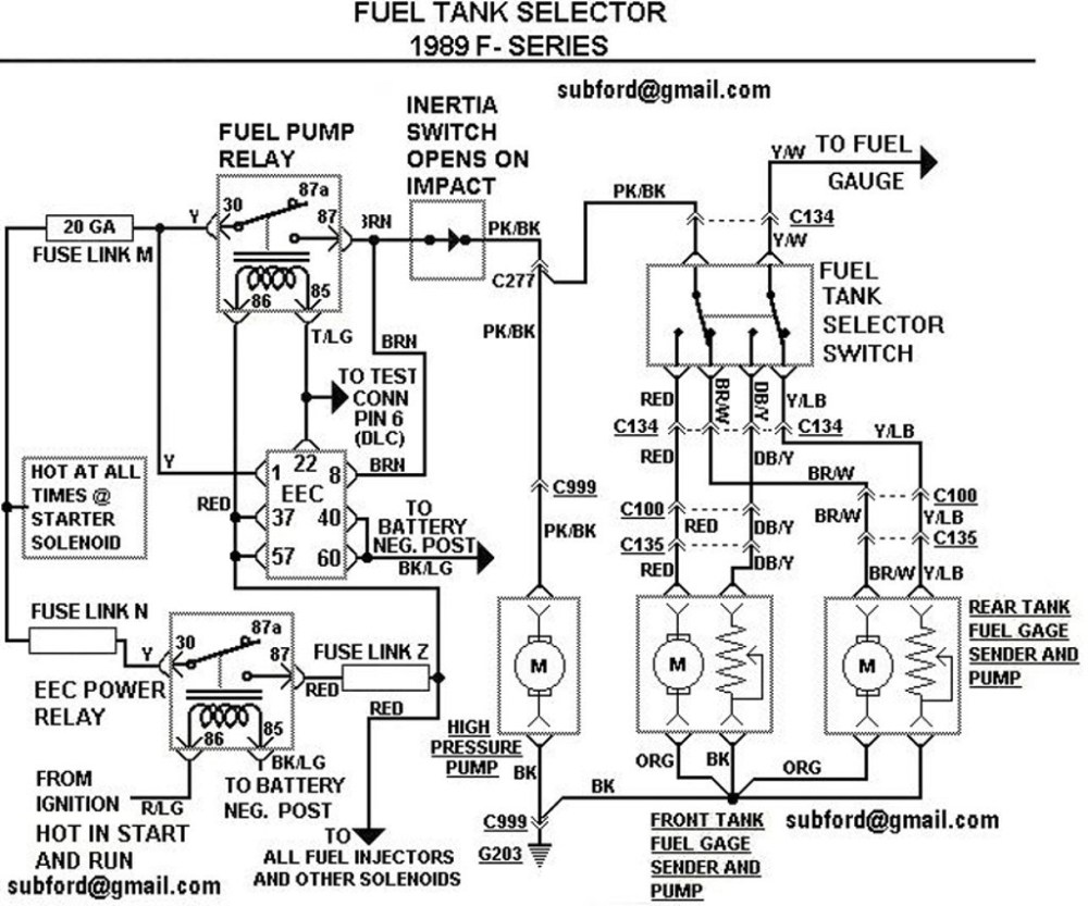 medium resolution of 1989 ford f 150 fuel system diagram data diagram schematic 89 f150 fuel line diagram